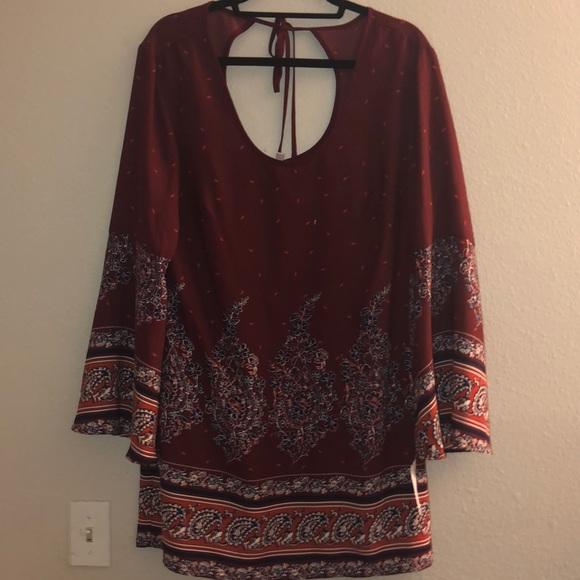 Xhilaration Dresses & Skirts - NWT xhilaration boho maroon dress